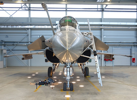Rafale dent inspection with a Donecle Drone
